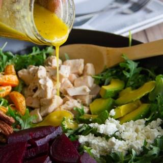 Roasted Beet & Baby Kale Salad