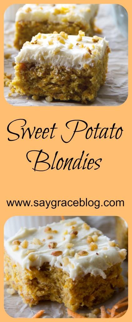 Sweet Potato Blondies