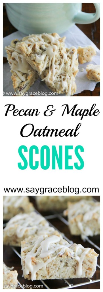 Pecan & Maple Oatmeal Scones