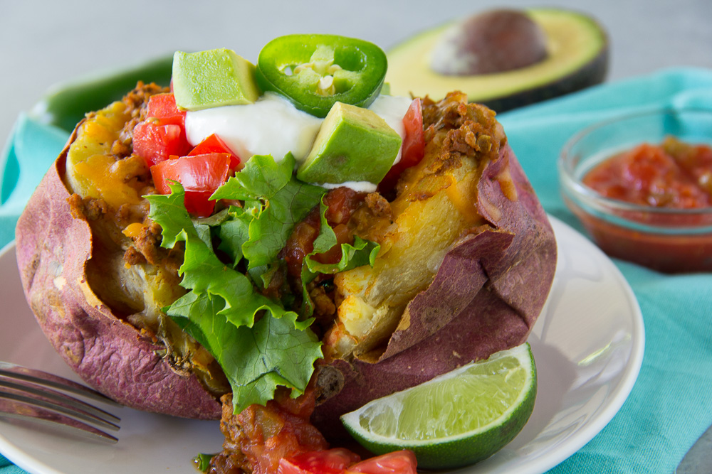 Turkey Taco Stuffed Sweet Potato