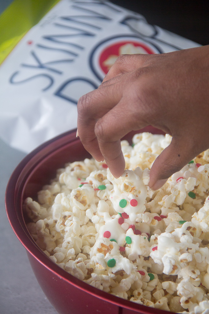 Frosted Sugar Cookie Popcorn