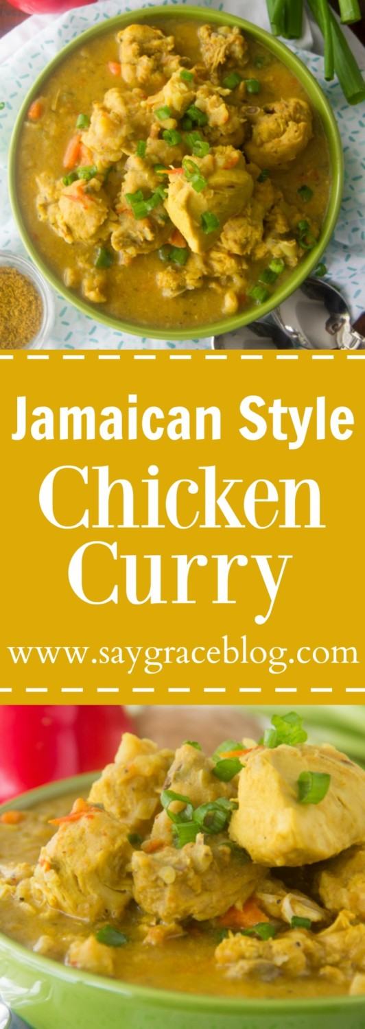 Authentic jamaican style chicken curry say grace authentic jamaican style chicken curry adapted from cook forumfinder Image collections