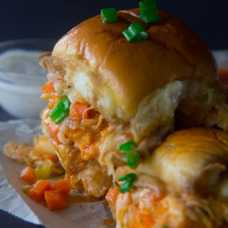 Party Buffalo Chicken Sliders {Video}