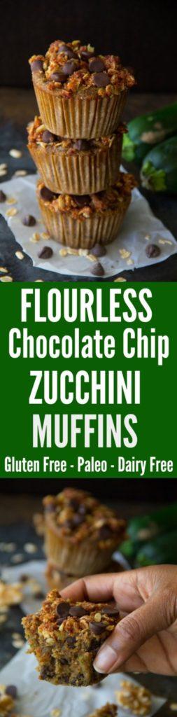 Flourless Chocolate Chip Zucchini Muffins