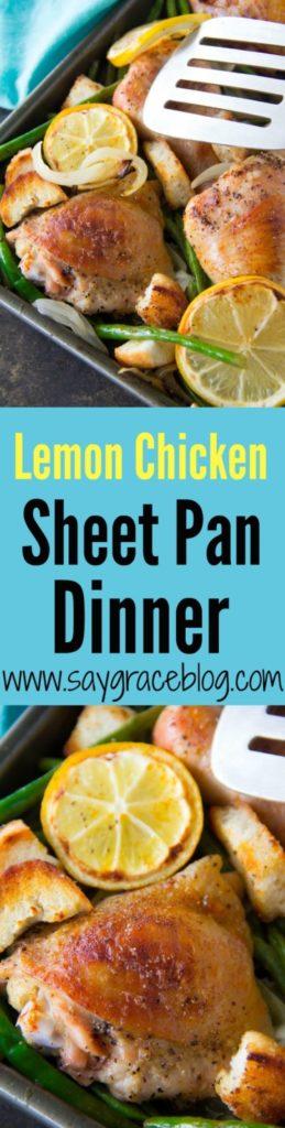 Lemon Chicken Sheet Pan Dinner with Croutons