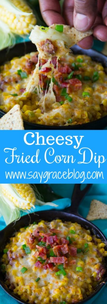 Cheesy Fried Corn Dip