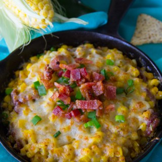 Cheesy Fried Corn Dip Recipe {Gluten Free}