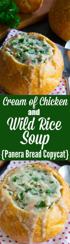 Cream of Chicken and Wild Rice Soup {Panera Bread Copycat}