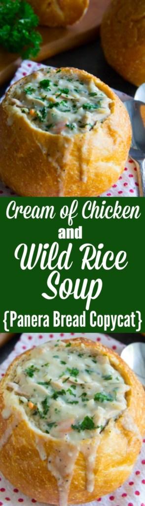 Cream of Chicken and Wild Rice Soup {Panera Bread Copycat}