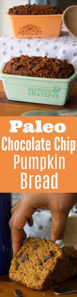 Paleo Chocolate Chip Pumpkin Bread Recipe