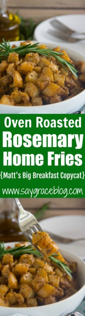 Oven Roasted Rosemary Home Fries