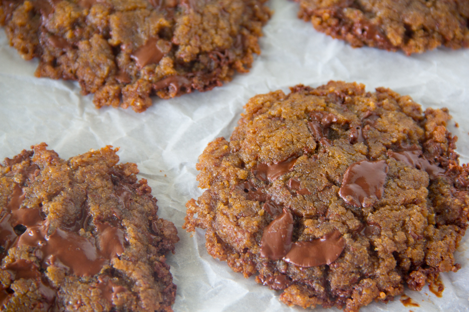 Chocolate Peanut Butter Cookies {Gluten Free}