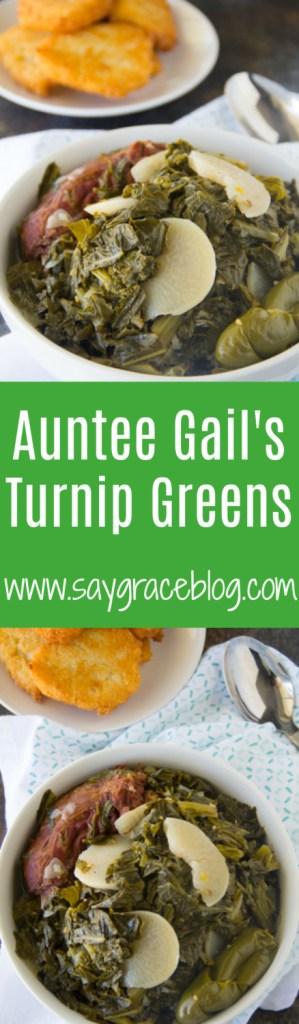 Auntee Gail's Turnip Greens Recipe