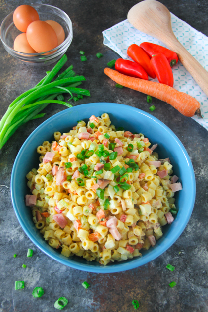 Ham and Egg Macaroni Salad