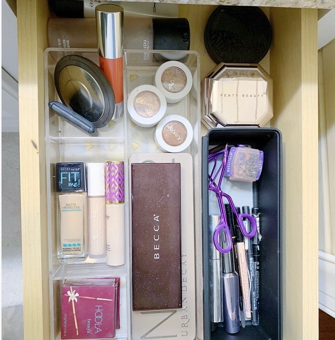 How to Organize your Makeup and Hair Products in a Small Space