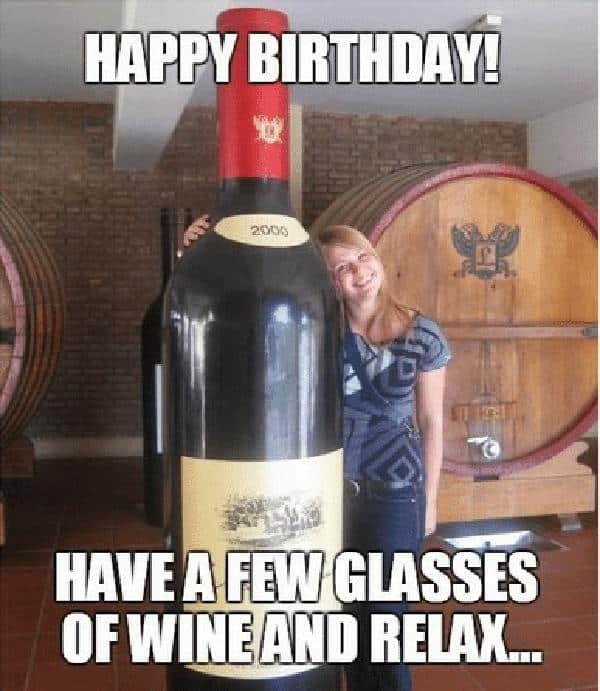 30 Happy Birthday Wine Memes To Help You Celebrate Sayingimages Com