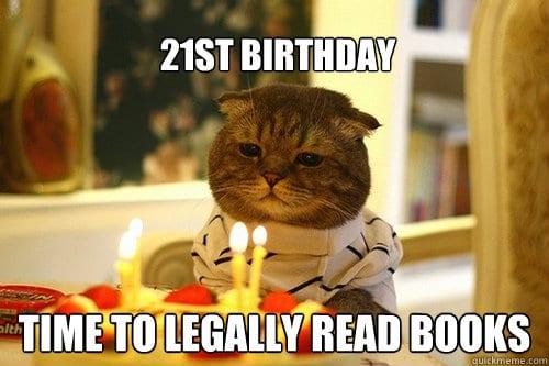 20 Funniest Happy 21st Birthday Memes Sayingimages Com