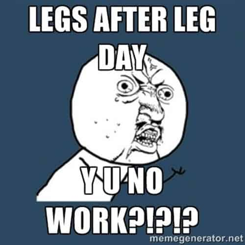 50 Hilarious After Leg Day Meme Sayingimages Com