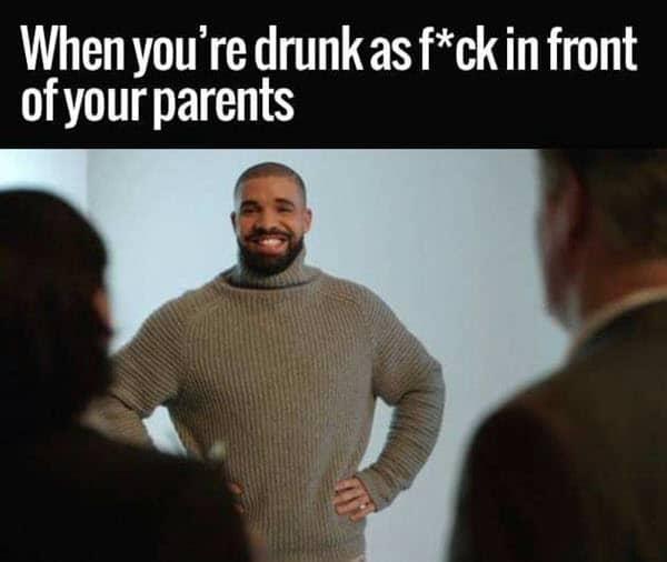 funny drunk parents memes