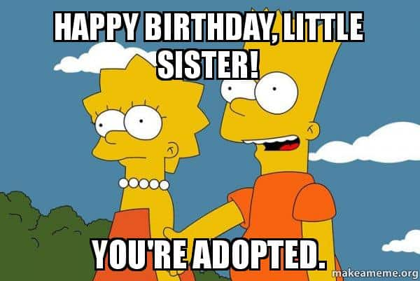 30 Hilarious Birthday Memes For Your Sister Inspiring Pictures Quotes Sayingimages Com