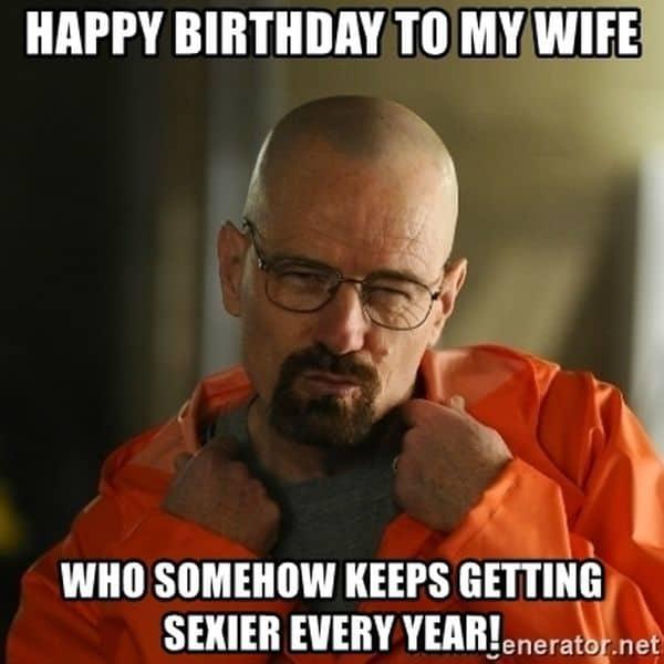 Happy Birthday Sexy Wife Meme