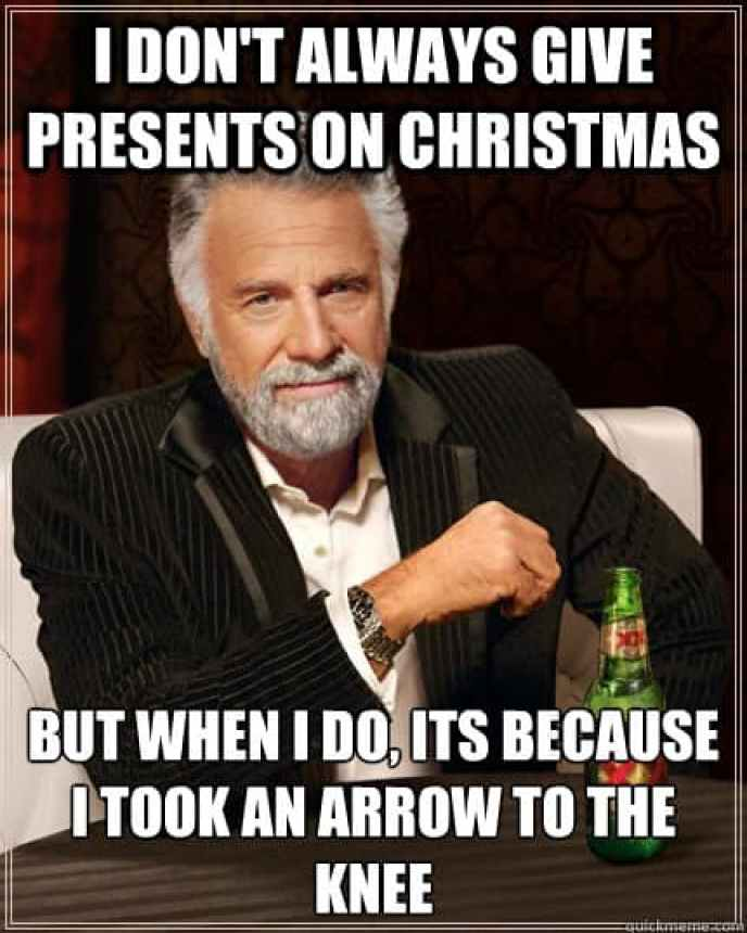 i dont always give presents on christmas funny merry memes