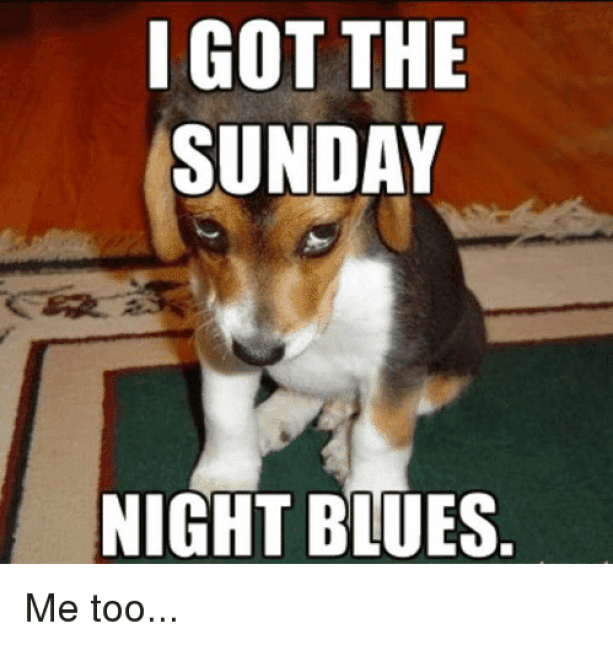 i got the sunday night blues meme