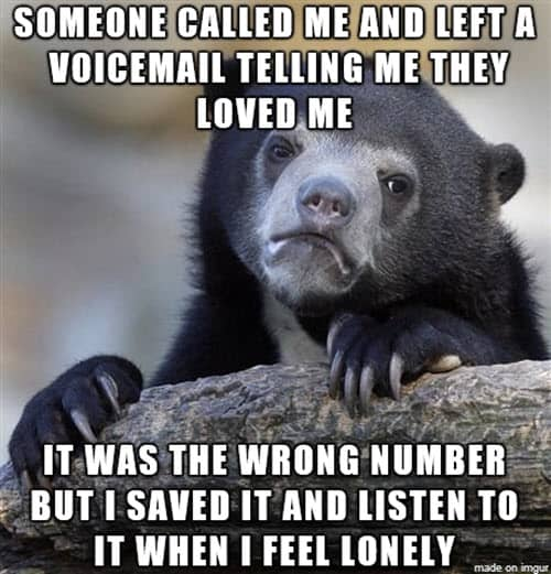 lonely wrong number meme