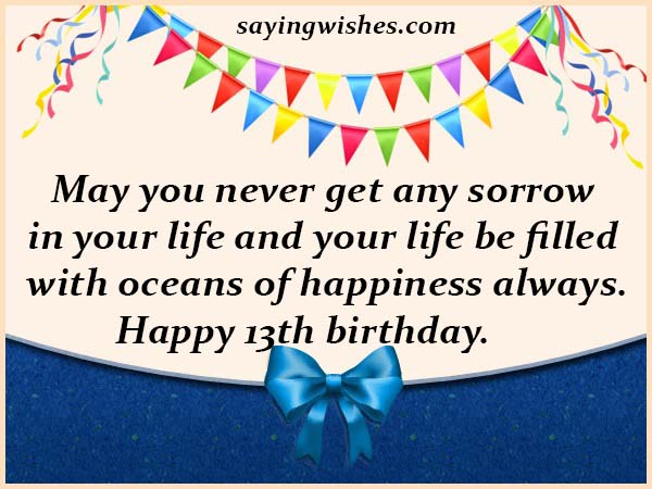 13th Birthday Wishes Quotes Messages For 13 Year Old Boy Or Girl