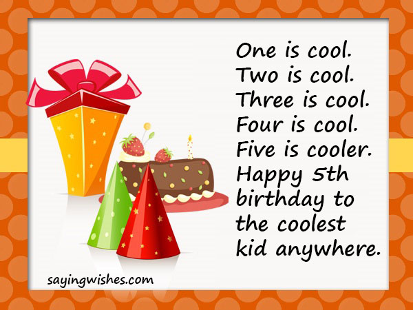 5th Birthday Wishes Quotes Messages For Boys Girls