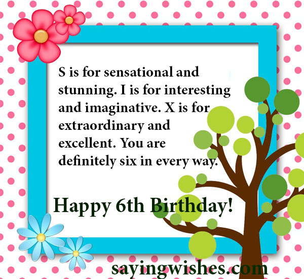 6th Birthday Wishes Quotes Messages For Baby Boy Baby Girl