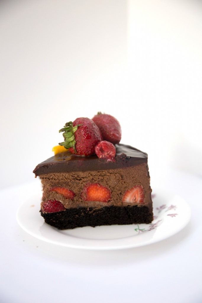 Strawberry Chocolate Mousse Cake Say It With Cake