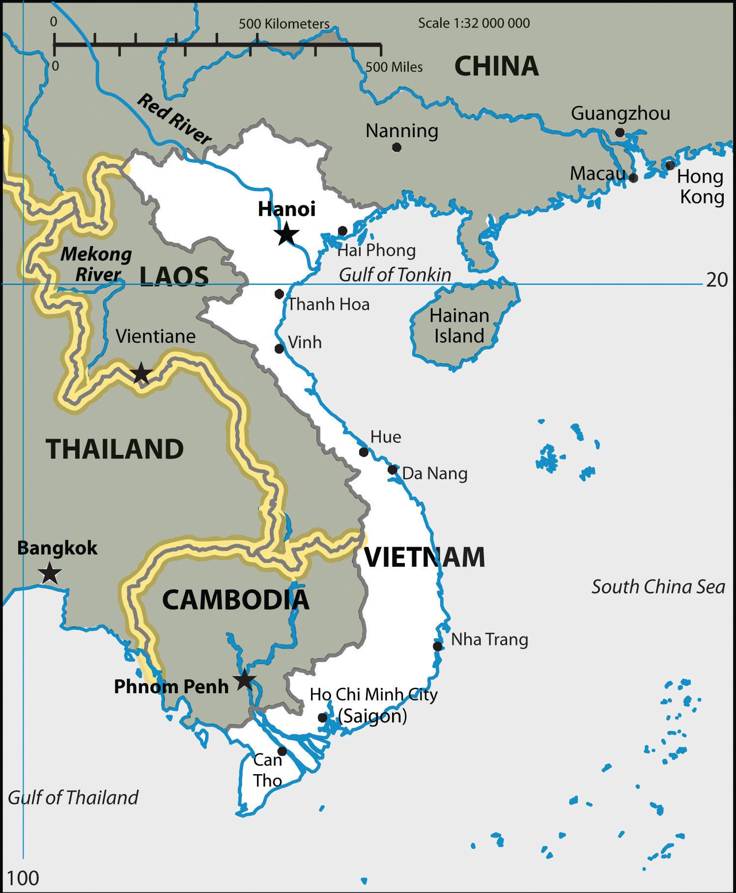 River Map Vietnam