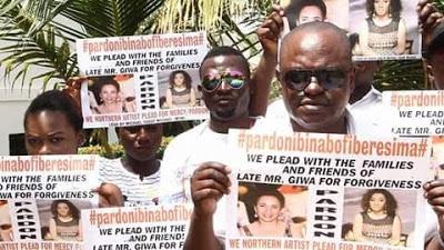 Northern actors hold #pardonIbinabofiberesima walk