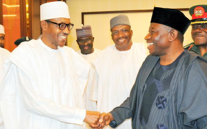 President Buhari Felicitates With Former President Jonathan At 60