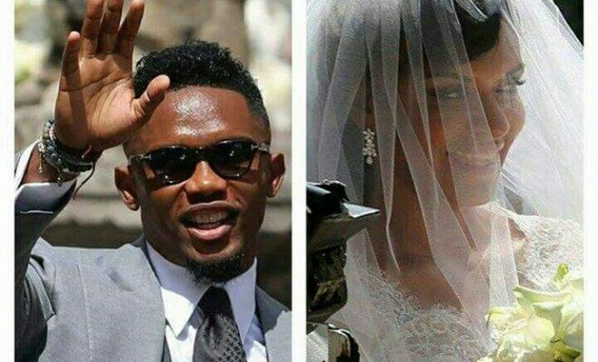 Peter Okoye Celebrates Samuel Eto'o as He Marries Longtime Partner