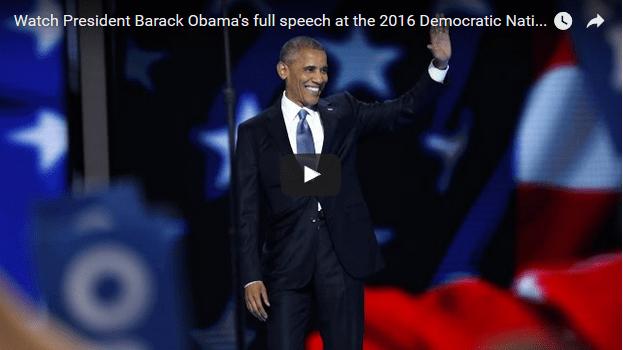 President Obama Slams Trump, Hails Hillary Clinton in DNC Speech – Video/Transcript