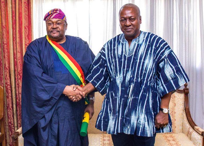 Mike Adenuga Bags Highest Civil Honour Award From President Of Ghana