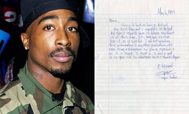 Tupac Shakur's Prison Handwritten Letter 'Is Thug Life Dead' Sells for $172,000!