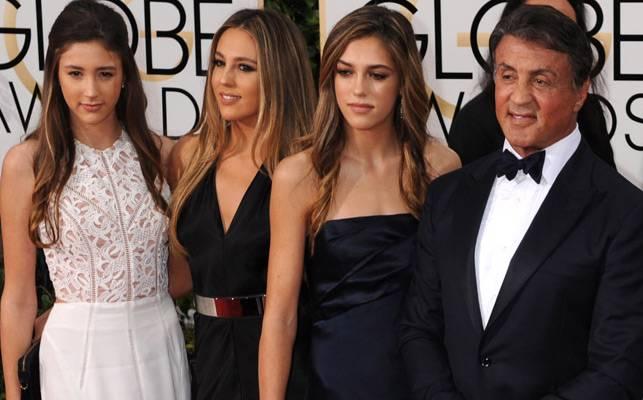 Sylvester Stallone's Daughters Named Miss Golden Globe 2017