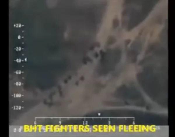 Video: Boko Haram Terrorists Fleeing 'Camp Zero' Following Air Bombardments