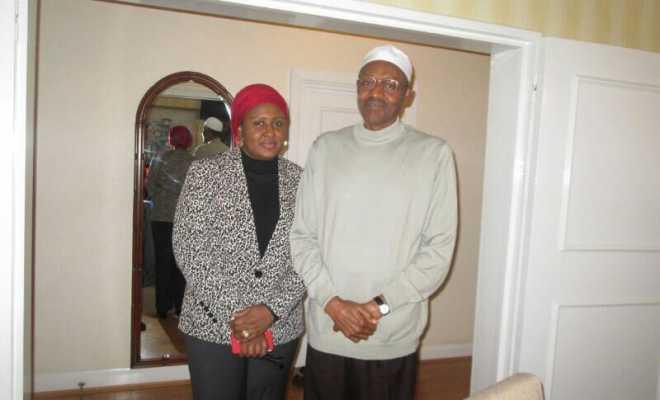 First Lady Aisha Buhari visits President Buhari in London