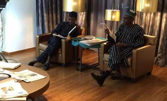 VP. Osinbajo Takes #IStandWithNigeria Message to Buhari, Talks His Return