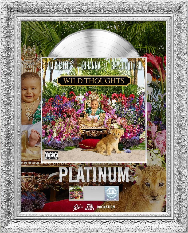 Dj Khaled's 'Wild Thoughts' Ft Rihanna and Bryson Tiller Certified Platinum