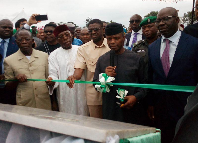 Vice President Osinbajo Opens 60,000 Metric Tonnes Fertilizer Plant in Edo