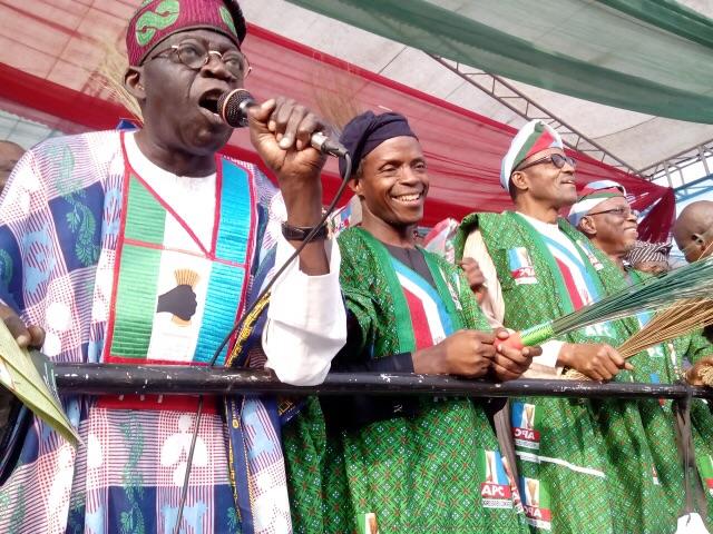Tinubu Debunks Reports On Plans to Replace Osinbajo as Buhari's Running Mate in 2019