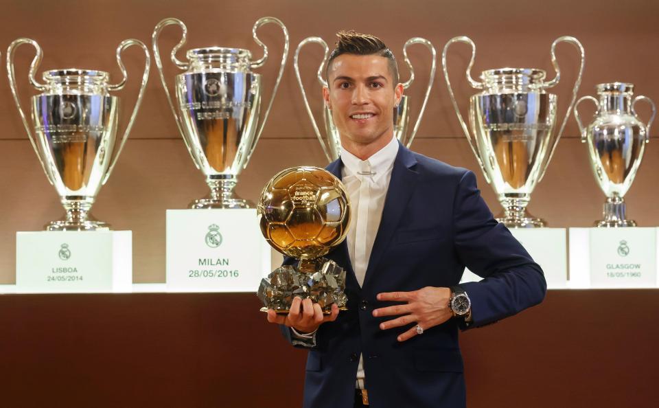 Cristiano Ronaldo Wins Ballon d'Or for 5th Time