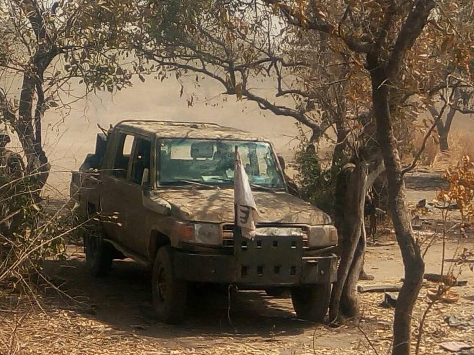 VIDEO: Nigerian Air Force Destroys Boko Haram Terrorist Training Camp, Takes Out Gun Truck
