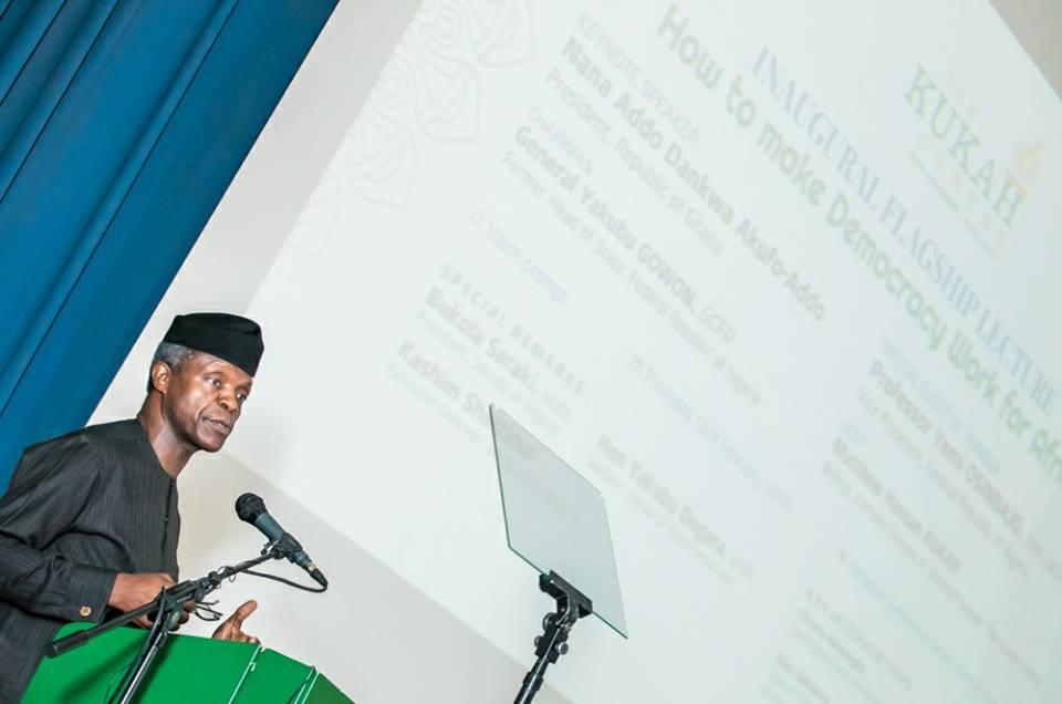 Vice President Yemi Osinbajo Releases Details Of Grand Corruption In Jonathan Era