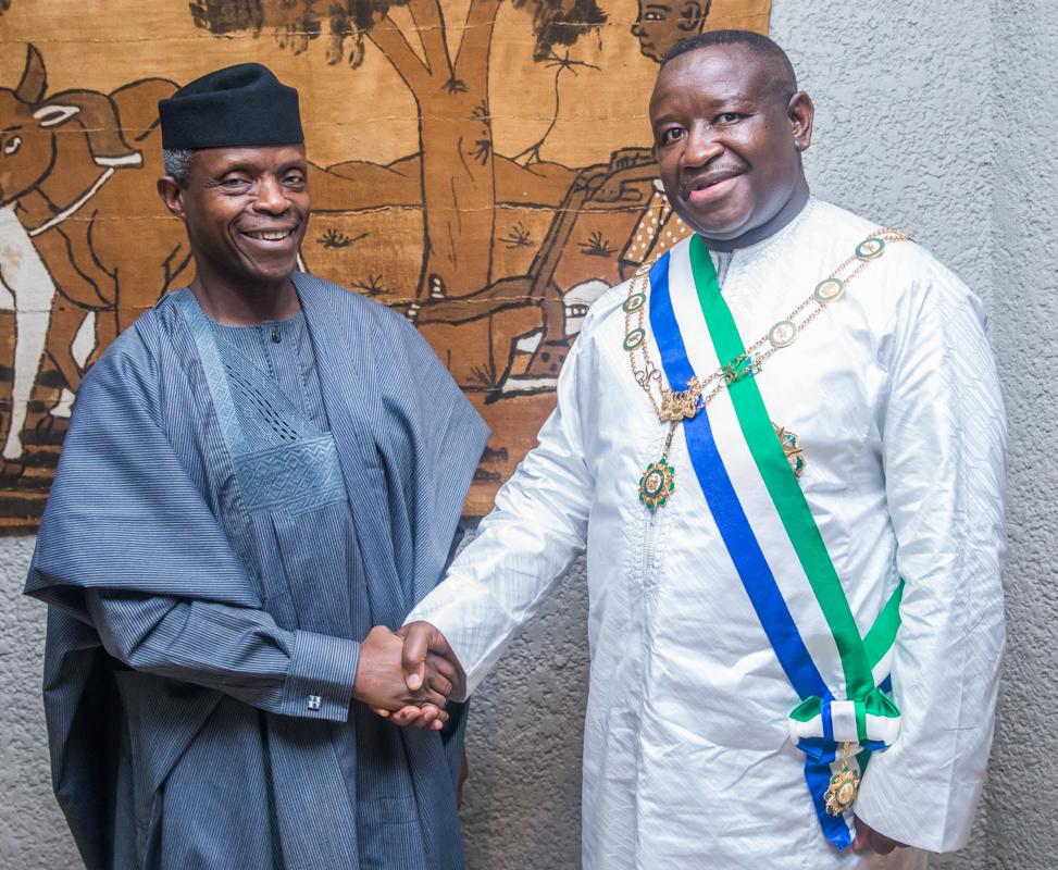 Celebration Of Democracy: Nigeria's Support For S'leone Continues - VP Osinbajo
